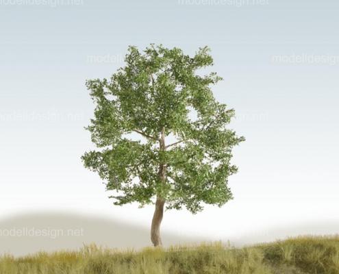 Modellbaum breit Laubbaum dunkelgruen