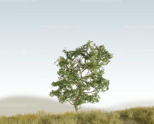 Modellbaum strauchig Laubbaum dunkelgruen