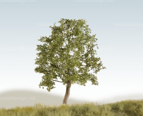 Modellbaum breit Laubbaum mittelgruen