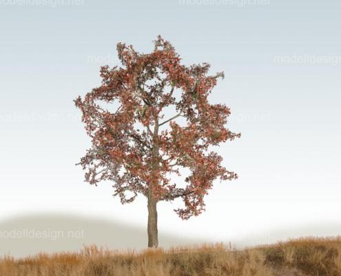 Modellbaum breit Laubbaum rotbraun