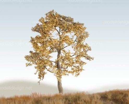 Modellbaum breit Laubbaum gelb