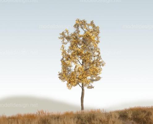 Modellbaum schmal Laubbaum gelb