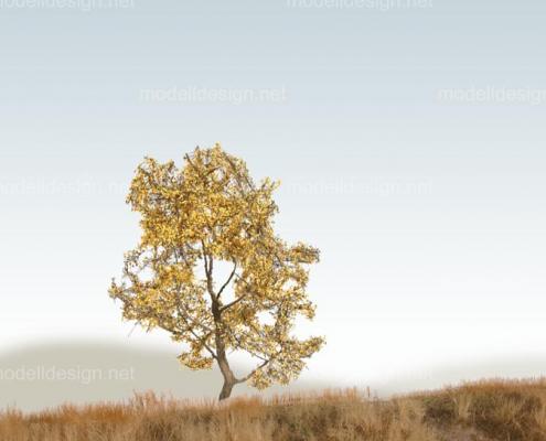 Modellbaum strauchig Laubbaum gelb