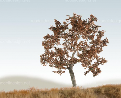 Modellbaum breit Eiche herbst