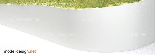 Diorama - Abgerundete Vorderkante mit weissemHochglanzdekor